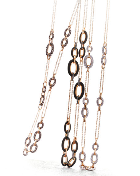 Pomellato Tango 18k Rose Gold Black Diamond Link
