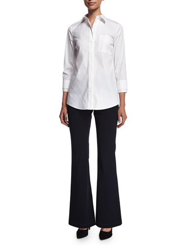Emerson Long-Sleeve Blouse & Suffolk Flared Pants