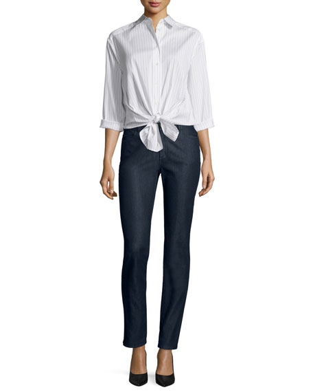 Lafayette 148 New York Leanne Pinstriped Blouse