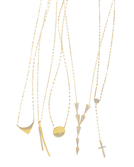 Lana Femme Fatale Crossary Necklace with Diamonds