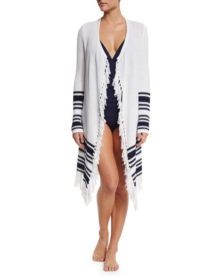 Tommy Bahama Solid V-Neck One-Piece Swimsuit