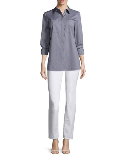 Lafayette 148 New York Kadine Long-Sleeve Blouse &