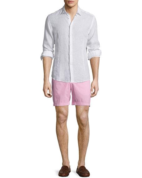 Orlebar BrownMorton Long-Sleeve Linen Shirt, White