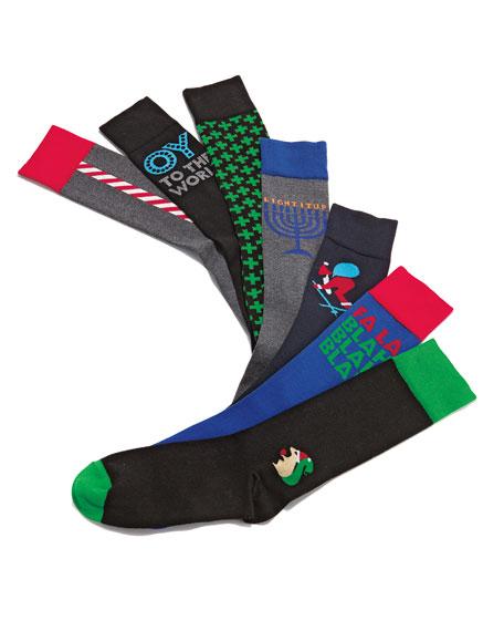 Crisscross Socks, Green