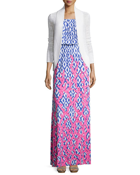 Lilly Pulitzer Amalie Long-Sleeve Open Cardigan, White