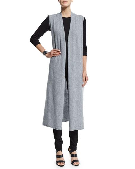 Eileen Fisher Long-Sleeve Silk Crewneck Tee
