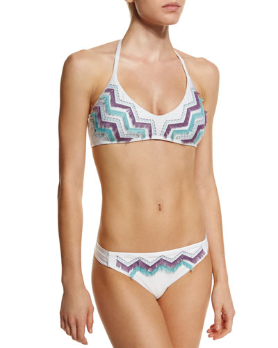 Birds-Of-A-Feather Swim Top & Bottom, White