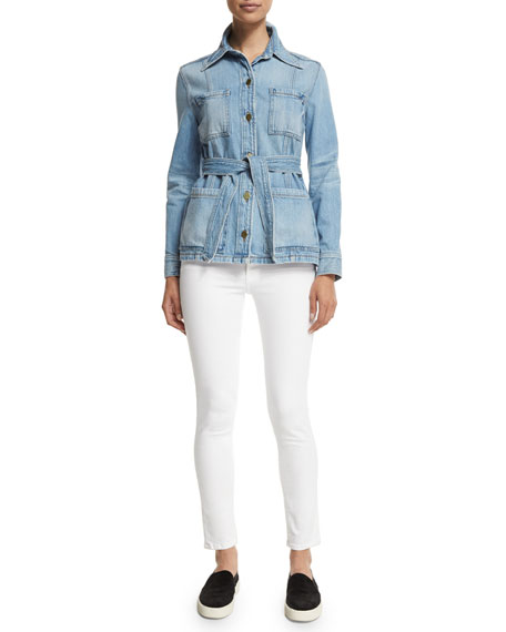FRAME DENIM Le High Skinny Jeans, White