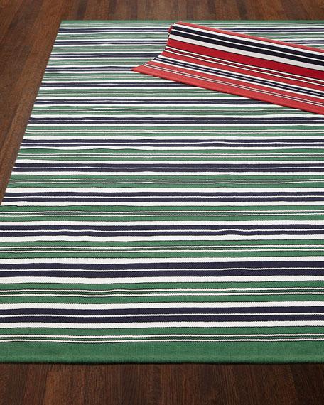 Racing Point Stripe Indoor/Outdoor Rug, 8' x 10'