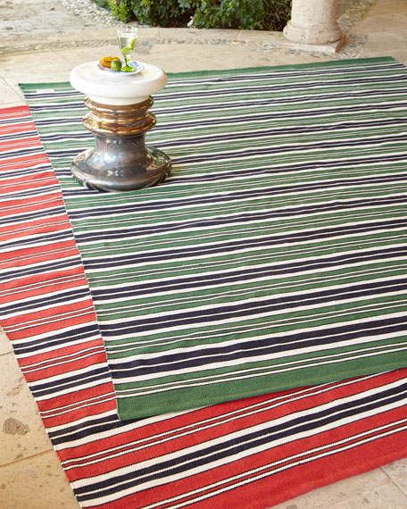 Ralph Lauren Racing Point Stripe Indoor/Outdoor Rug, 5'