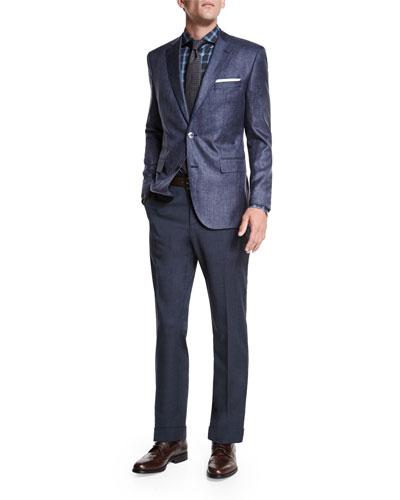 Johnston Silk Two-Button Jacket, Dress Shirt & Tie