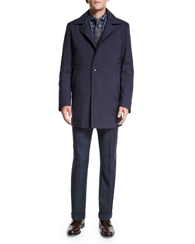 Button-Down Rain Coat, Johnston Silk Two-Button Jacket, Dress Shirt & Tie