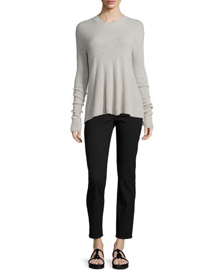 Helmut Lang Slit-Back Cashmere-Blend Pullover Sweater, Haze