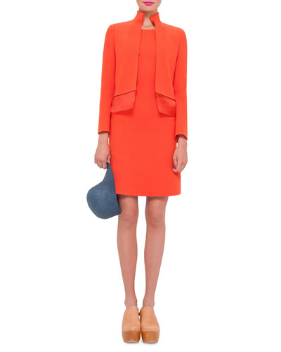 Akris Long-Sleeve Layered-Hem Jacket & Sleeveless Round-Neck