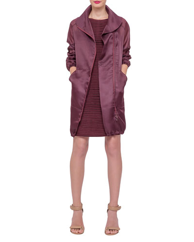 Akris Long-Sleeve Zip-Front Parka & Sleeveless Pleated-Front