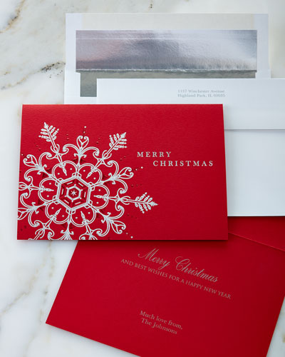 Snowflake Expressions Holiday Greeting Cards