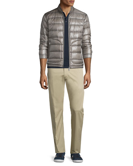 Moncler Acorus Puffer Down Jacket, Gray