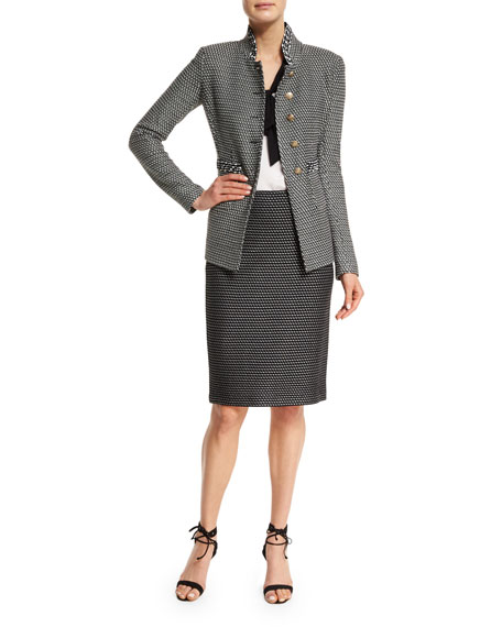 St. John Collection Manto Contrast-Trim Knit Jacket,