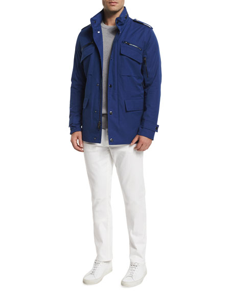 MICHAEL KORS Nylon-Blend Utility Jacket, Blue