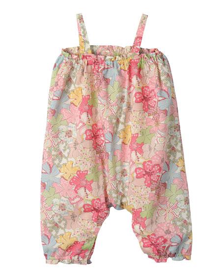 Bonpoint Floral Cotton Overalls, Multicolor, Size 3 Months