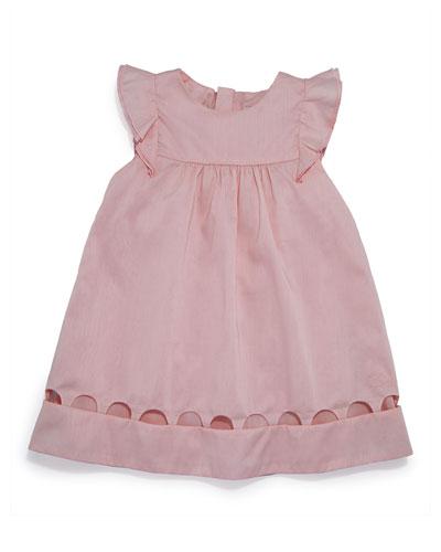 Chloe Sleeveless Percale Shift Dress, Light Pink