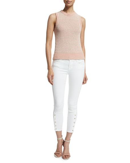 J Brand Jeans Garey Jewel-Neck Sweater Tank, Rose