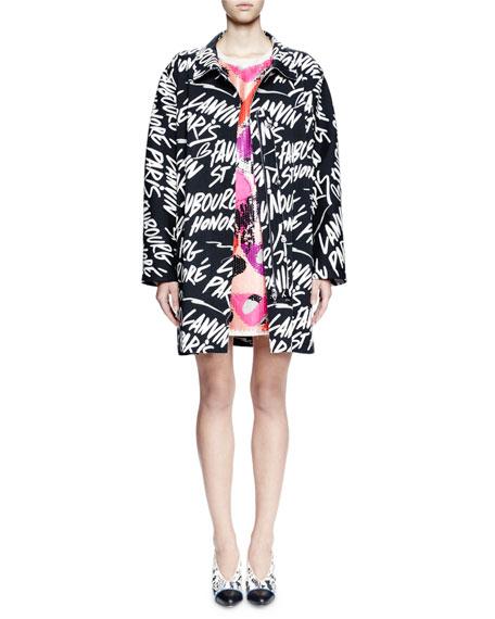 Lanvin Long-Sleeve Kimono-Cut Jacket, Black