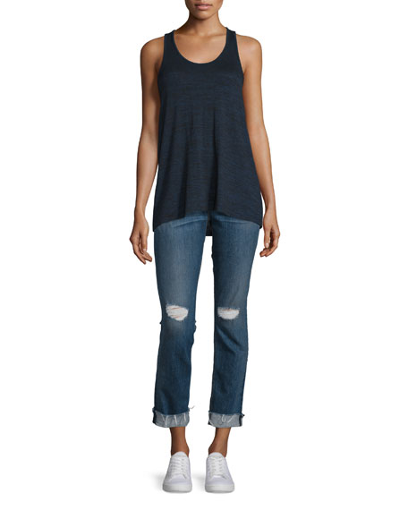 rag & bone/JEAN Twist Back Racerback Tank, Black