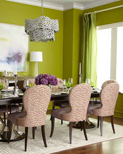 Makena Dining Chair & Lambert Double-Pedestal Dining Table