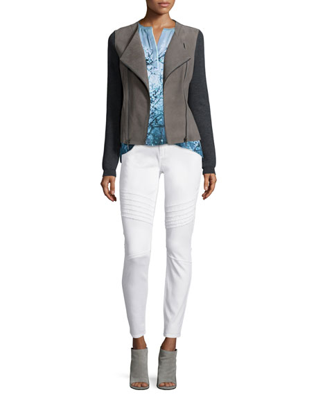 Elie Tahari Joplin Leather & Wool Jacket
