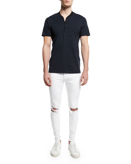 Rag & Bone Knox Short-Sleeve Henley Shirt, Salute