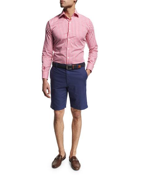 Peter Millar Seaside Collection Check Sport Shirt, Pink