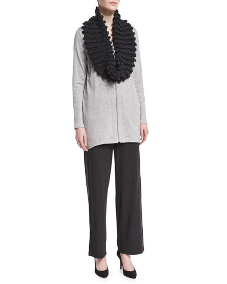 Eileen Fisher Straight-Leg Stretch Pants, Charcoal