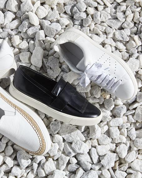 Vince Bates Espadrille Skate Sneaker, White/Burlap