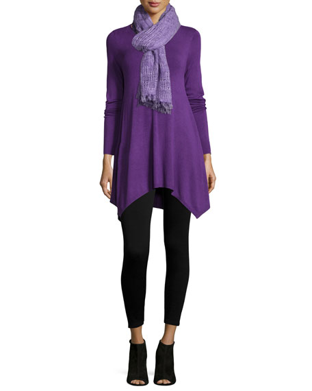 Eileen Fisher Long-Sleeve Easy Tunic with Hanky Hem