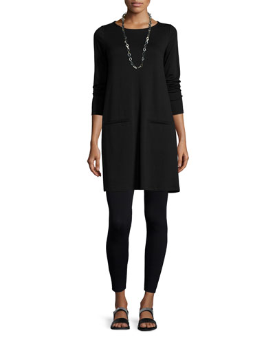 Long-Sleeve Fleece Tunic & Viscose Jersey Leggings, Women's