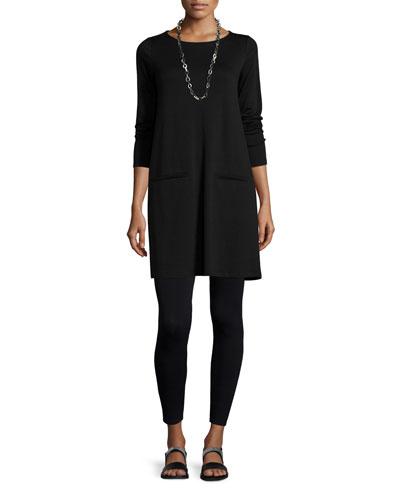 Long-Sleeve Fleece Tunic & Viscose Jersey Leggings, Women's