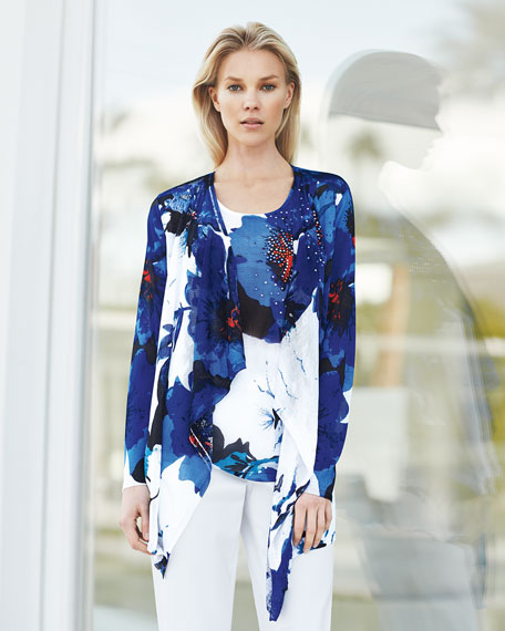 Floral Lapis of Luxury Cardigan