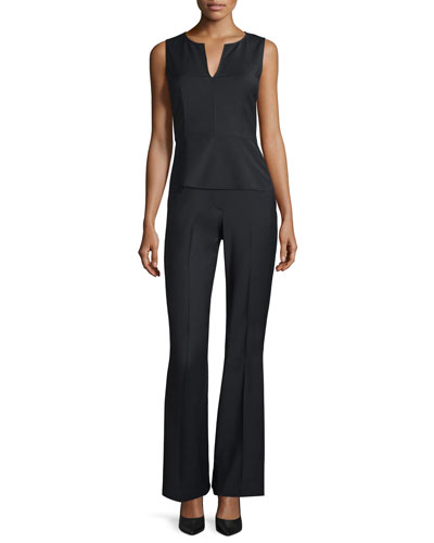 Theory Etia Continuous Wool-Blend Top & Jotsna Pants