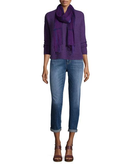 Eileen Fisher Long-Sleeve V-Neck Top, Women's