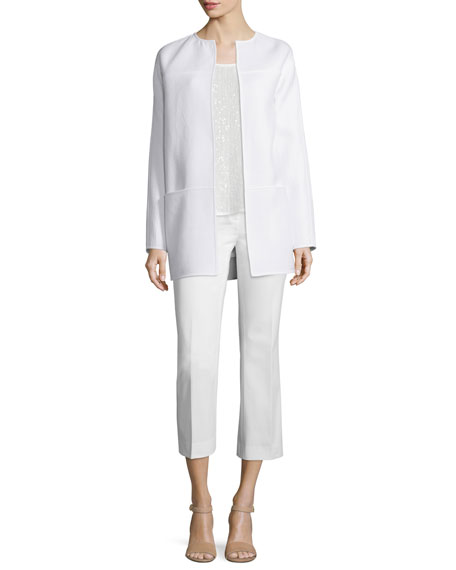 Lafayette 148 New York Maureen Ribbed Topper Jacket,
