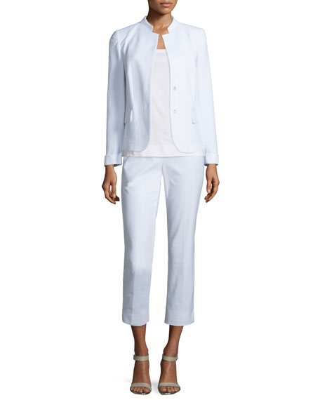 Lafayette 148 New York Emilia Snap-Front Jacket, White