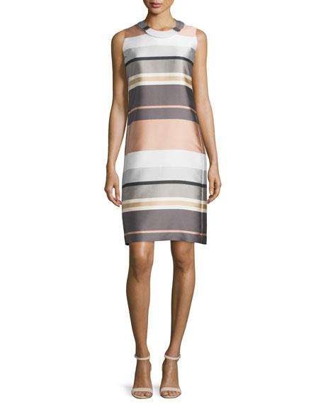 Lafayette 148 New YorkTwiggy Sleeveless Striped Shift Dress,