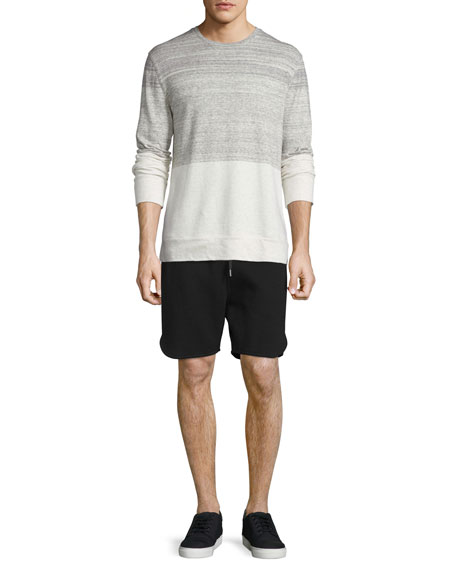 Helmut Lang Gradient Heathered Crewneck Sweater, Sand Heather