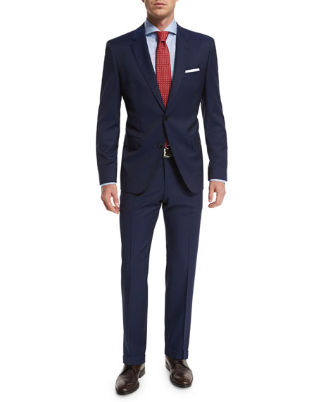 Boss Hugo Boss Solid Two-Piece Wool Travel Suit,