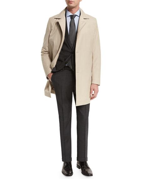 Boss Hugo Boss Single-Breasted Raincoat, Tan