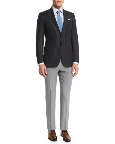 Plaid Two-Button Wool Blazer & High Performance Trofeo® Wool Trousers