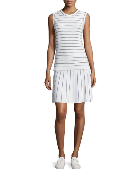 Theory Kralla SL Prosecco Striped Sleeveless Top