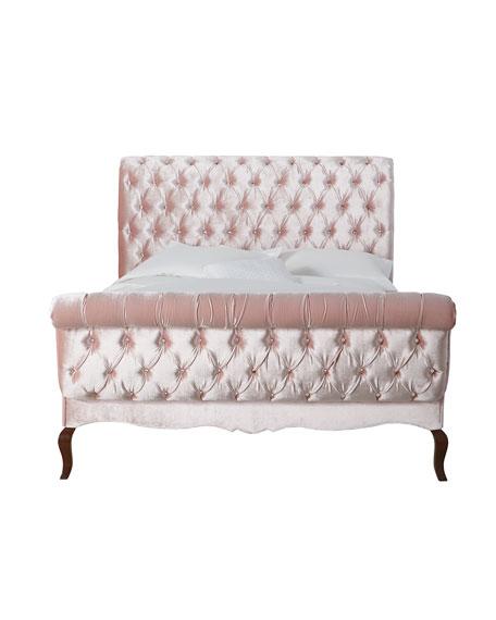 Duncan Fife Blush Tufted King Bed