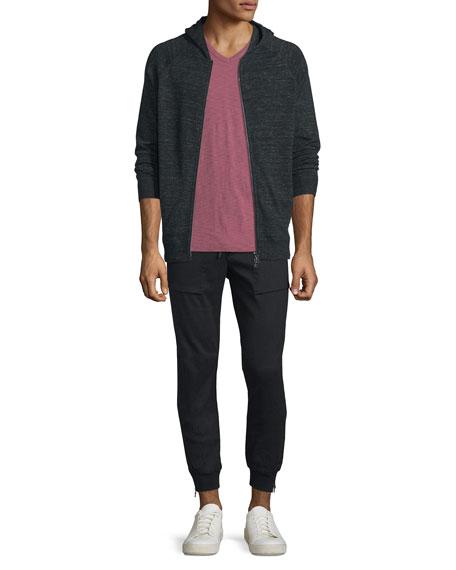Vince Jaspe Raglan-Sleeve Hoodie Sweatshirt, Black
